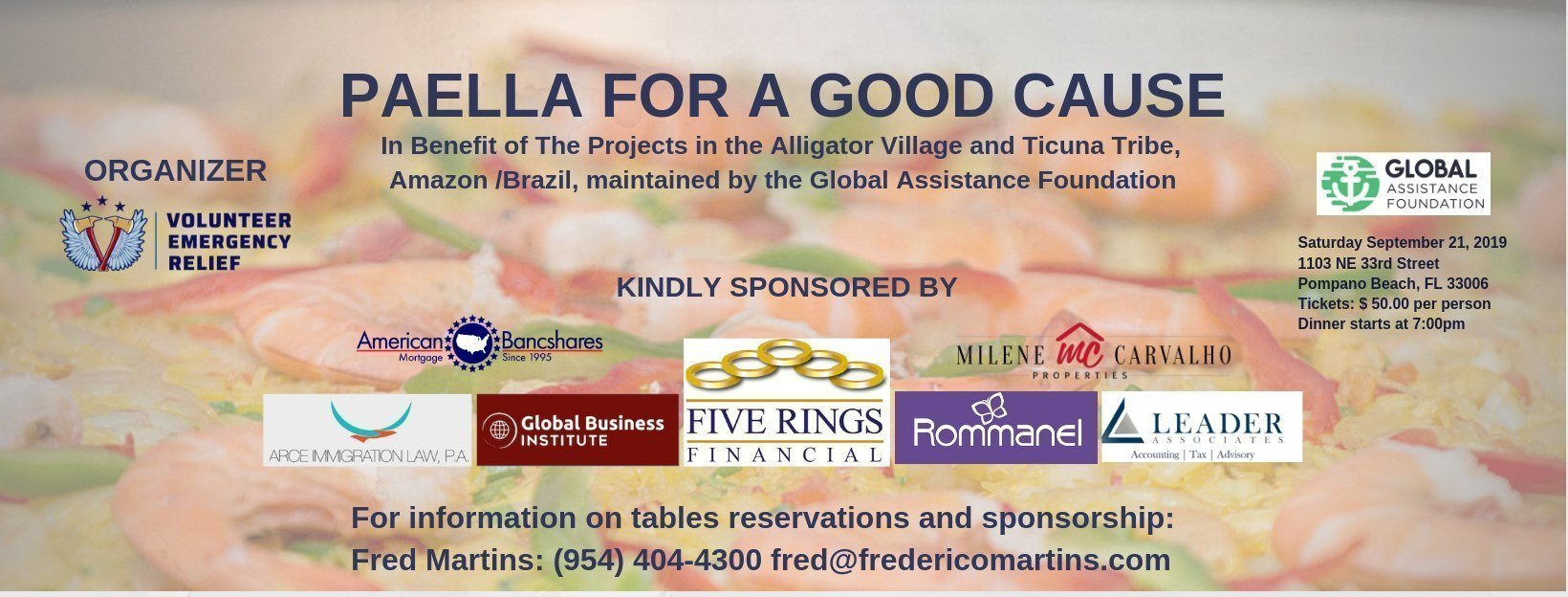 Paella for a Good Cause - In Benefit of The Ticuna Tribe Brazil